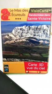 Carte IGN randonnées dans Sainte Victoire
