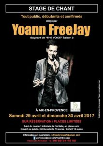 Stage de chant Yoann FreeJay