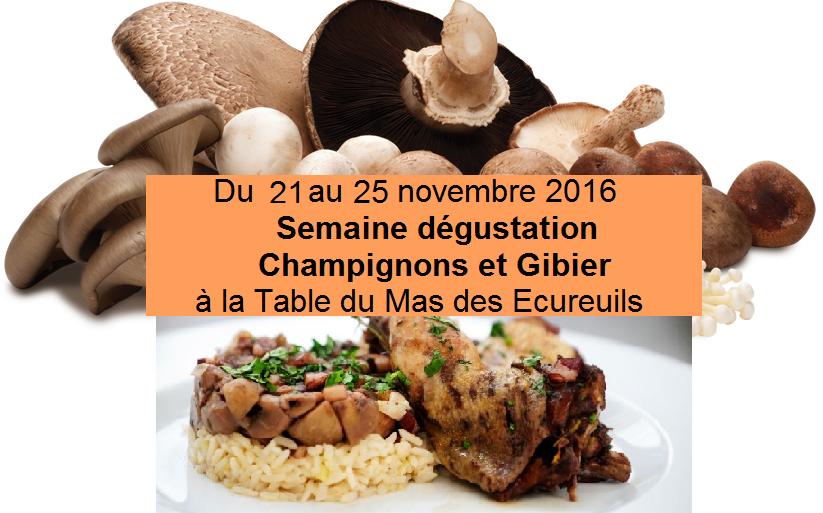 champignons et gibier restaurant aix en provence