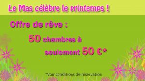 OFFRE MARS 2017 50 EUROS 50 CHAMBRES